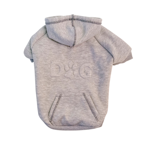 6511 Dog Embossed Hoodie Sweatshirt Up to 100+ LBS