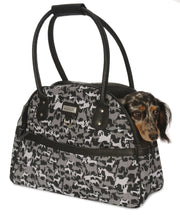 Copy of Quilt Dog Carrier Purse. Black. Lightweight. Teacup and Small Dogs up to 12 LBS