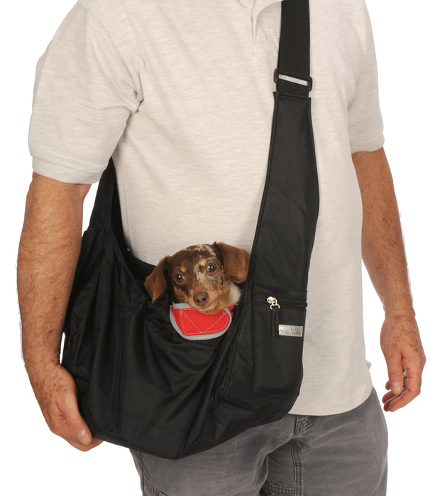My Canine Kids Cloak and Dawggie Easy Walk Sport Pet Sling Carrier. Black. Lightweight for Teacup, Puppy and Small Dogs to 12 LBS  cloakanddawggie-mycaninekids