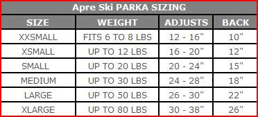 9550 Apre` Ski Winter Dog Coat. Waterproof. Up to 80 LBS
