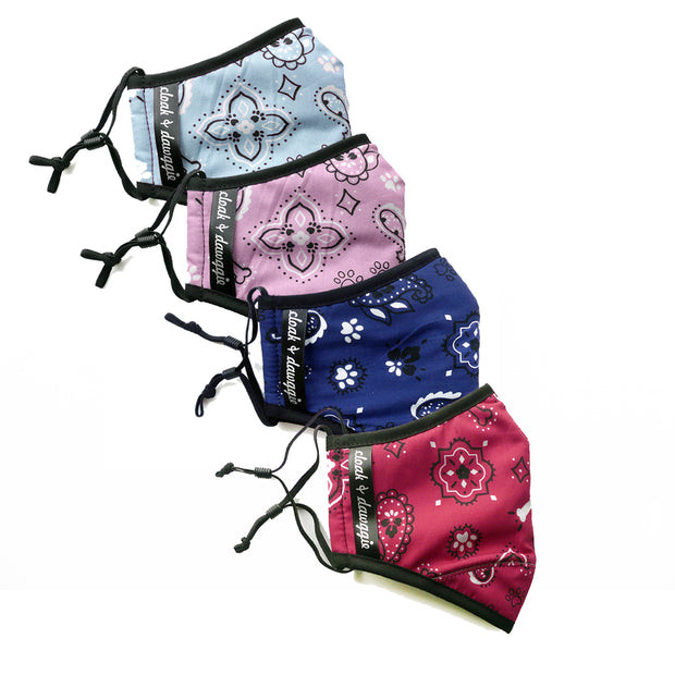 Bandana Face Mask for dog Lovers cloak & dawggie