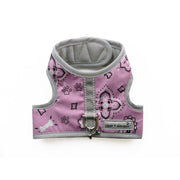 Pink bandana print dog harness vest cloak and dawggie xxs teacup