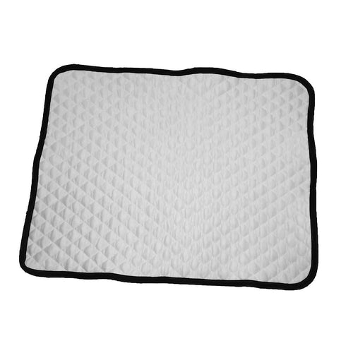 Dog cooling mat white quilt Cloak and Dawggie
