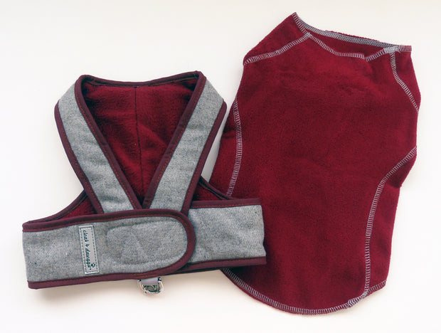 Burgandy Flannel Set Step N Go and Sweater SET