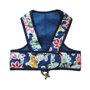 7150 Step n Go Harness Dress for Dogs Blue Floral Print