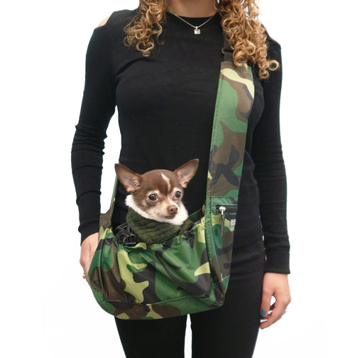 My Canine Kids Cloak and Dawggie Easy Walk Sport TINY Pet Sling Carrier in Camouflage Print. For Tiny Teacup, Extra Small Dogs up to 7 or 8 Pounds  cloakanddawggie-mycaninekids
