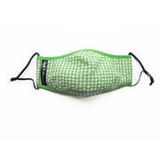 Cloak & Dawggie Face Mask Green Gingham