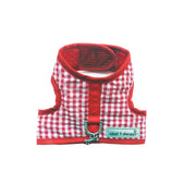 Cloak & Dawggie Teacup XXS Dog Harness Vest Red Gingham