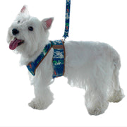 My canine kids 4550 step in dog harness modeled My canine kids