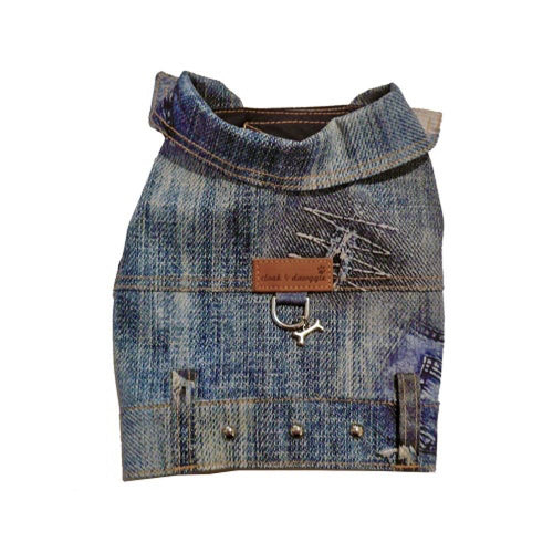 Authentic Dog Denim Jacket style 4850 Cloak and Dawggie for Teacup and Small Dogs to 30 LBS