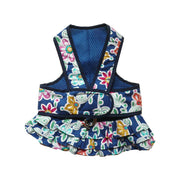 7150 Step n Go Harness Dress Blue Floral Print Up to 25 LBS