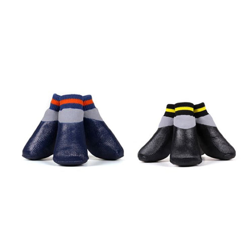 Dog socks no slip cloak and dawggie in black and navy