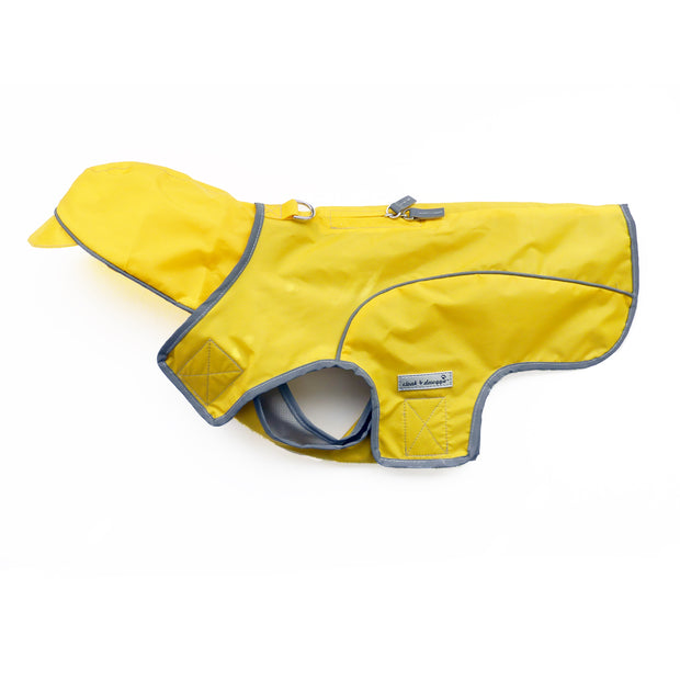 2100 Precision Fit Dog Raincoat with Hood up to 130 LBS