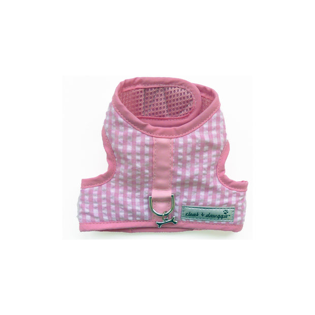 4150 Teacup XXS Gingham Dog Harness Vest up to 6 LBS