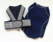 Step N Go Flannel Harness and Sweater Set in Navy
