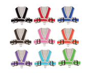 1101 Precision Fit Dog Harness - Nylon. Step-In. Teacup, Puppy - Medium Size Dogs up to 50 LBS - cloakanddawggie-mycaninekids