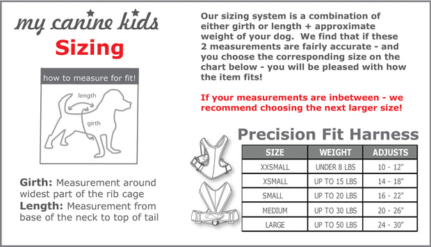 Copy of 1101 Precision Fit Dog Harness - Nylon. Step-In