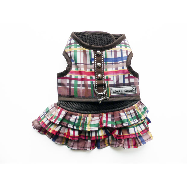 Forest Friends Plaid XS Dog Skirt