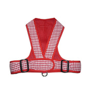Red Gingham Dog Harness My Canine Kids