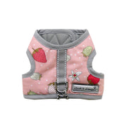 7155 Teacup Vest Harness Dress for Dogs Pink Strawberry Print