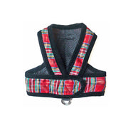 7500 Holiday Tartan Red Plaid Dog Harness Step n Go Wrap Up to 25 LBS