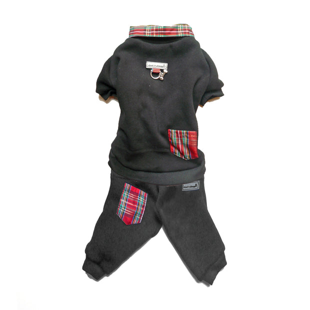 7503 Holiday Tartan Plaid Dog Sweatpant Up to 50 LBS