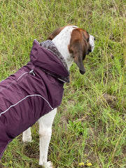 9250 Precision Fit Xtreme Reflective Dog Coat with Hood. Up to 80 LBS