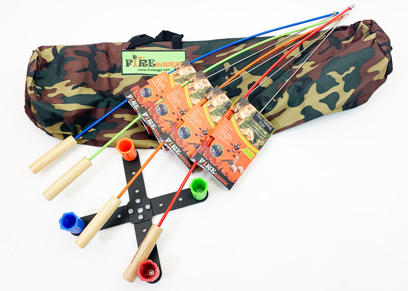 Fire Fishing Pole Bag Set