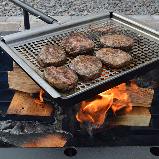 Grill burgers, vegetables, or anything else with the Plug N Play Grill for our Fire Pits