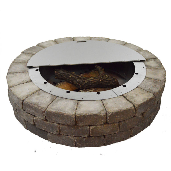 Round Stainless Steel Fire Pit Cover - Firebuggz