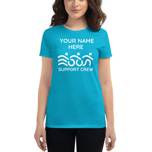 Custom Triathlon supporter t shirt Women's
