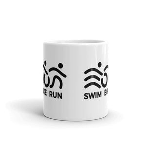 Swim Bike Run - Triathlon Mug - Finisher Zone - Black