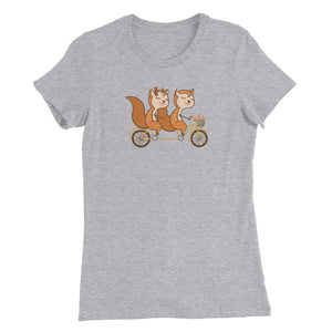 Tandem Bicycle - Cycling T shirt Women's
