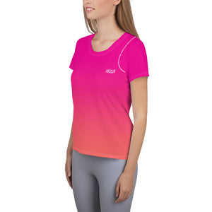Women's Running Top - Pink Coral Gradient 💖