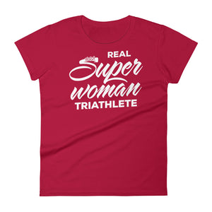 Real Super Woman Triathlete Women's - White Design