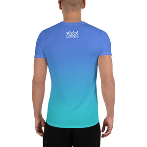 Men's technical shirt - blue gradient