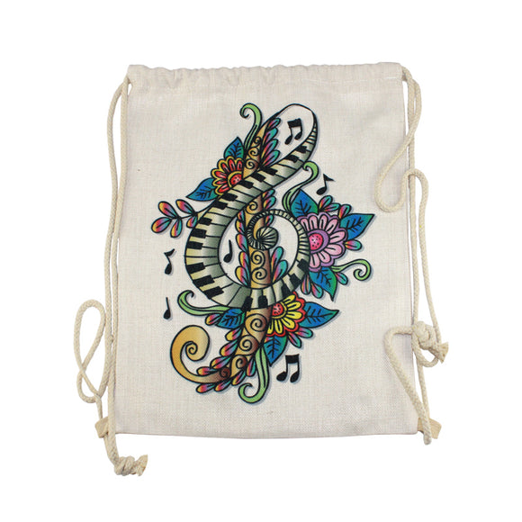 15.5x11.5 PolyLinen Drawstring Backpack