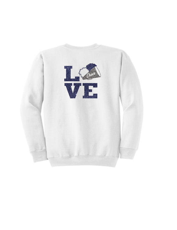 HMS LOVE CHEER  Unisex Sweater Glitter Logo