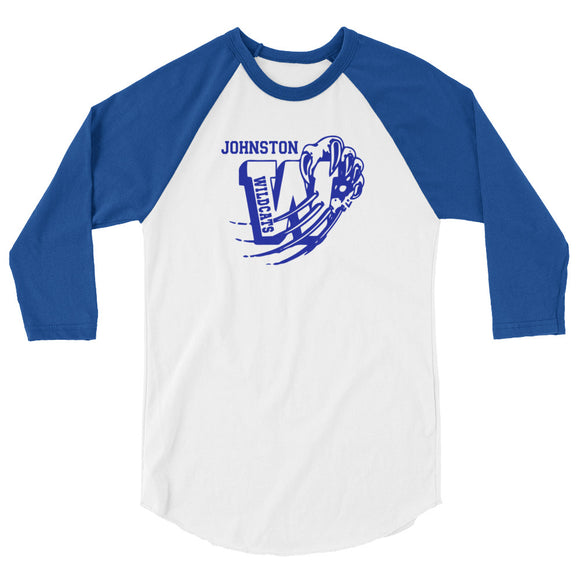 Unisex Baseball Tee Johnston W logo