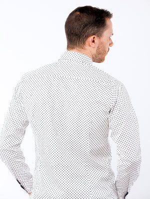 White Dotted Dress Shirt