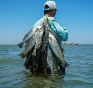 "Fishing ""The Guts"" at San Luis Pass, Texas"