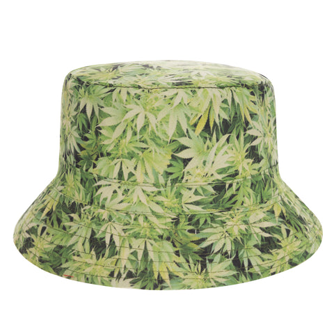 Bush Green Flat Bucket Hat