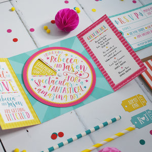 Carnival Wedding Invitation