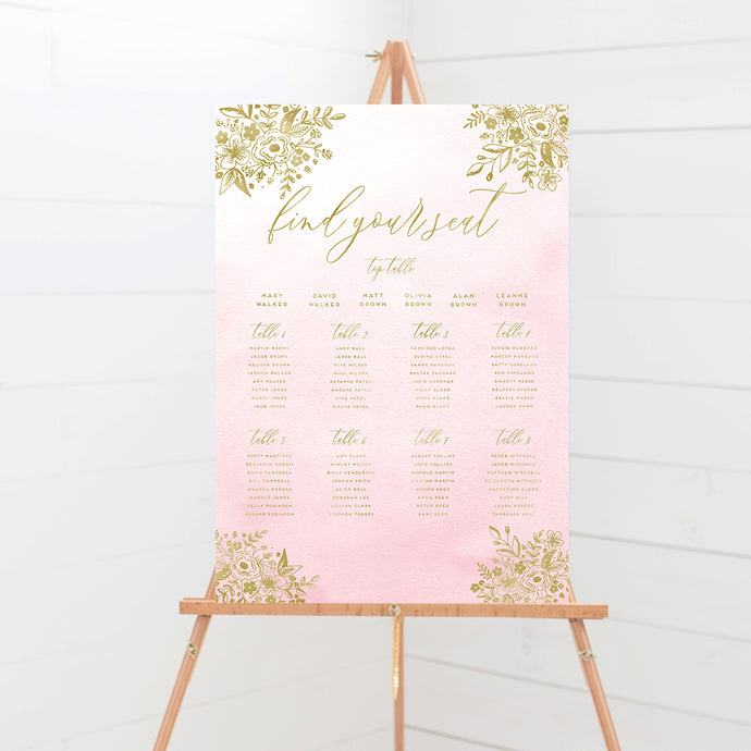 Enchanted Blush Wedding Table Plan