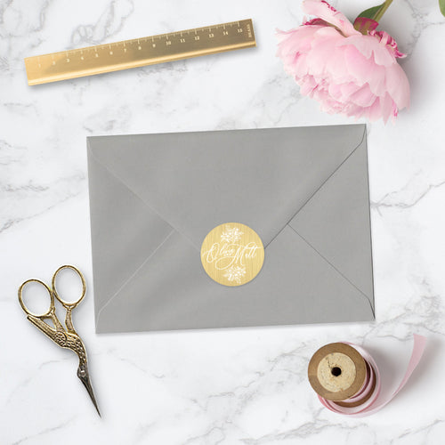 Gold Foil Envelope Sticker Seal