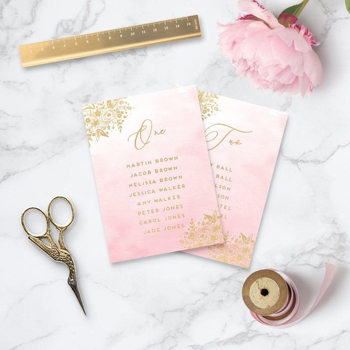 Enchanted Wedding Table Plan Cards
