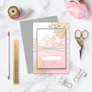 Enchanted Foiled Wedding Invitation Bundle