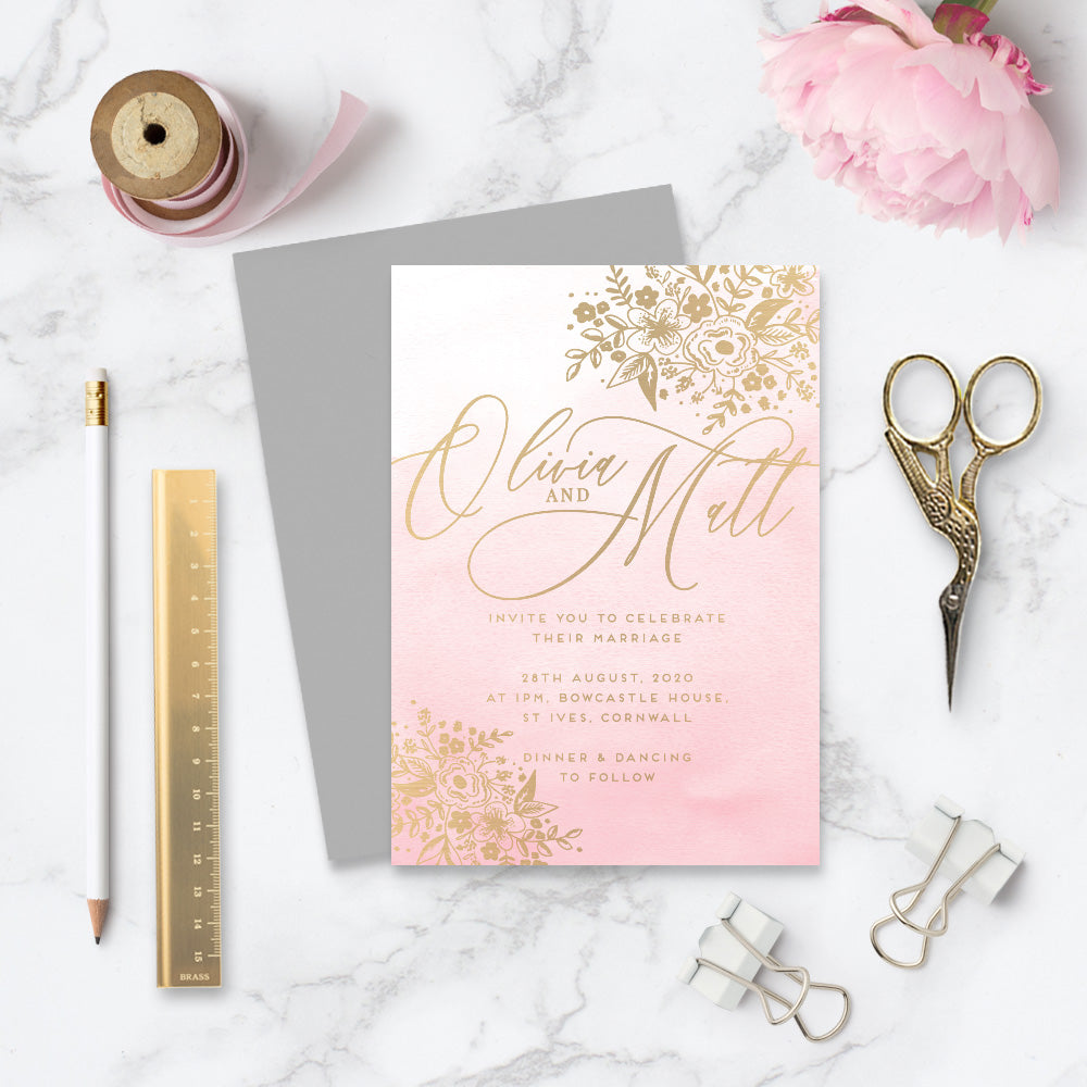 Enchanted Foiled Wedding Invitation