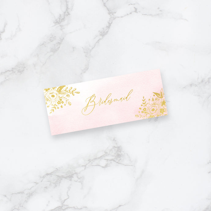 Enchanted Foiled Wedding Place Cards
