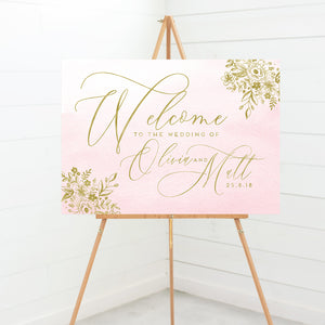 Enchanted Blush Wedding Welcome Sign